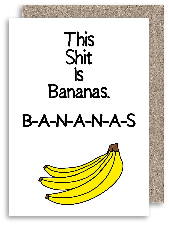 Mierda es Tarjeta de felicitación de plátanos - Gwen Stefani ...