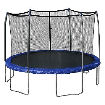 Redondo cama elástica red de almacenaje 12 ft 4 arco 8 poste valla ...