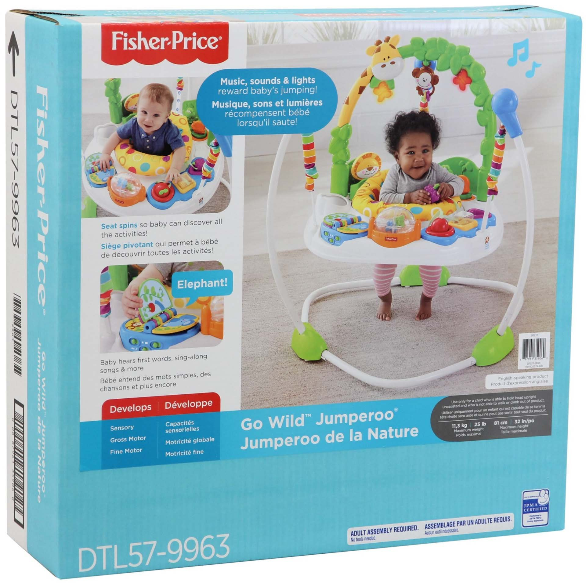1689359ac6f3 Fisher-Price Go Wild Jumperoo - DTL57   Bouncers   Baby Products - tibs