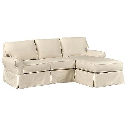 Stone & Beam Carrigan Modern Slipcover Reversible Sofa Chaise, 95