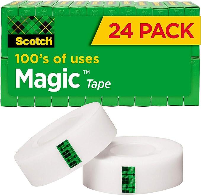 1//2 x 450 Inches Scotch Magic Tape 6 Rolls