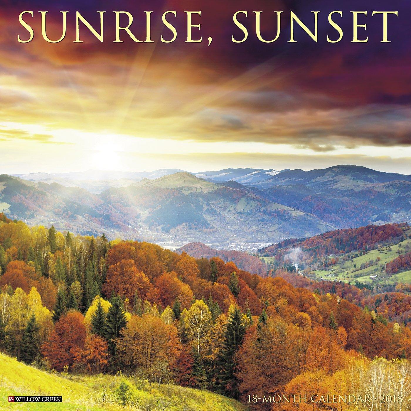 Sunrise, Sunset 2018 Calendar