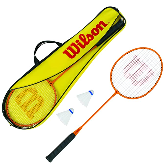 1 opinioni per WILSON Kit Attrezzatura per Badminton Unisex-Adulto, Yellow/Orange, Uni