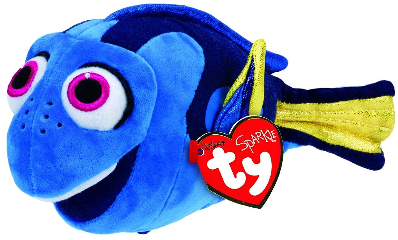 amazon com ty beanie babies finding dory regular plush toys games