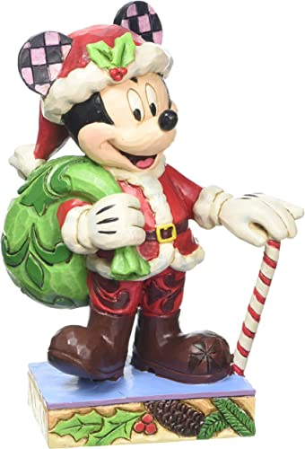 Jim Shore for Enesco Disney Traditions by Christmas Mickey Figurine, 4.5