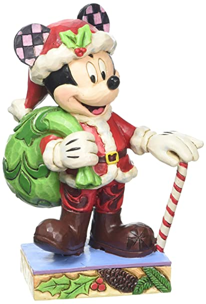 jim shore for enesco disney traditions by christmas mickey figurine 45