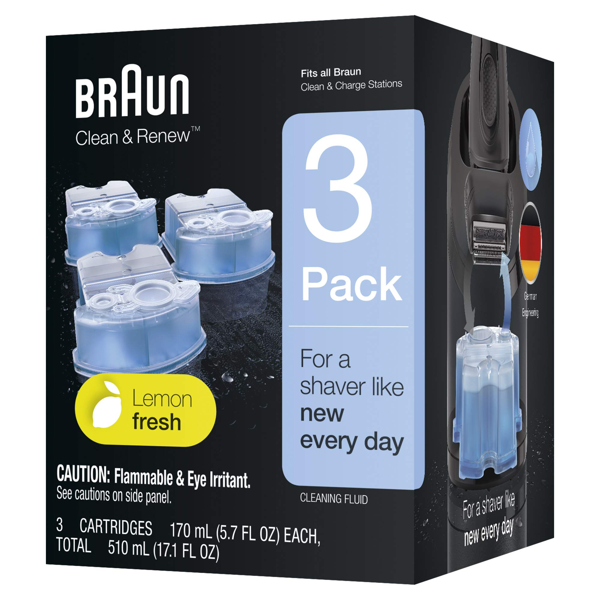 Braun Clean and Renew Refill, 3 Count (Transparent) product image