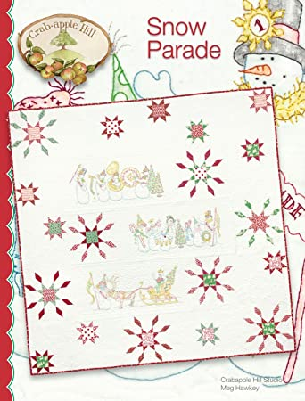 Amazon Snow Parade Christmas Embroidery Pattern By Meg Hawkey