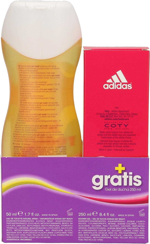 ADIDAS pack get ready for her colonia 50 ml + gel de ducha 250 ml: Amazon.es: Belleza