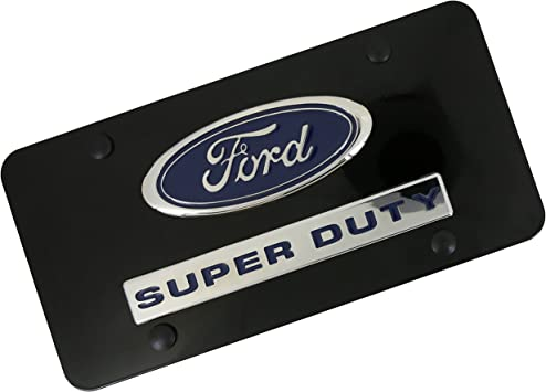 Ford Laser-Cut Logo /& Super Duty Name On Polished License Plate