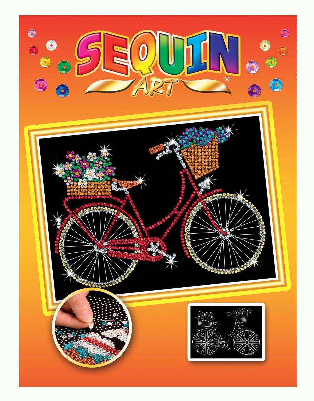 Sequin Art Orange BICYCLE Sparkling Arts and Crafts Kit