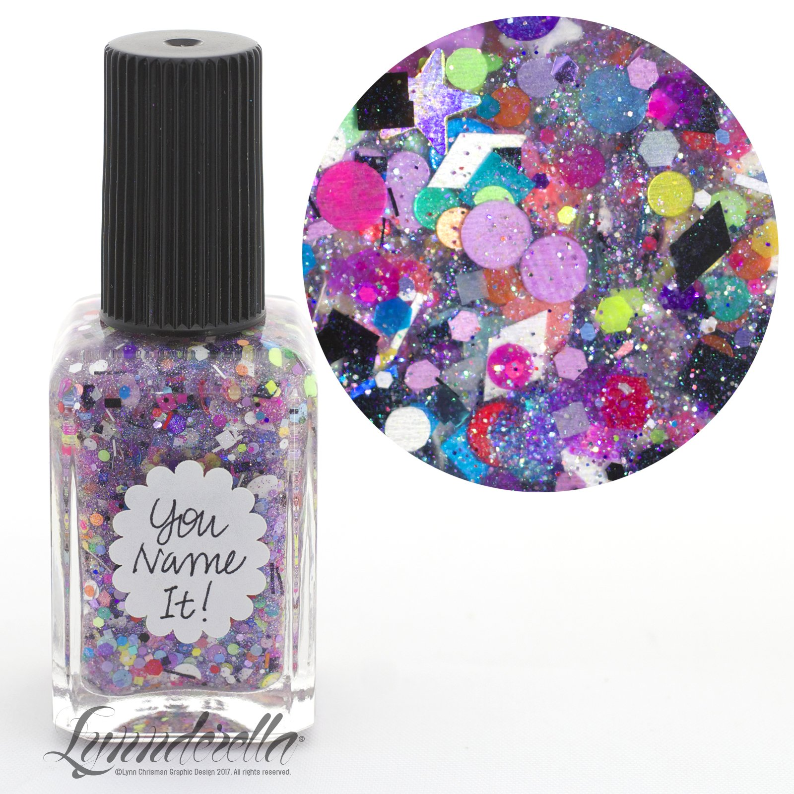 Lynnderella Nail Polish—You Name It!—Multishimmered Multiglitter Topper