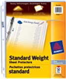 "Avery Standard Weight Sheet Protectors, Clear, Fits Letter Size -8.5"" x 11"", 50 Sheets (74305)"