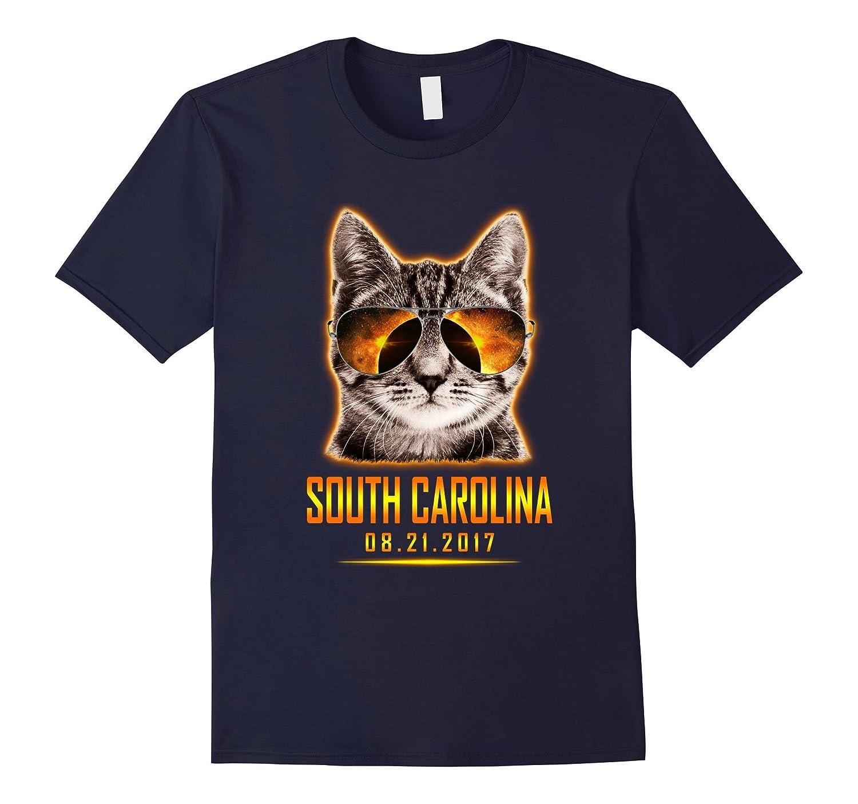 Cat Is Watching South Carolina Total Solar Eclipse T-shirt-BN