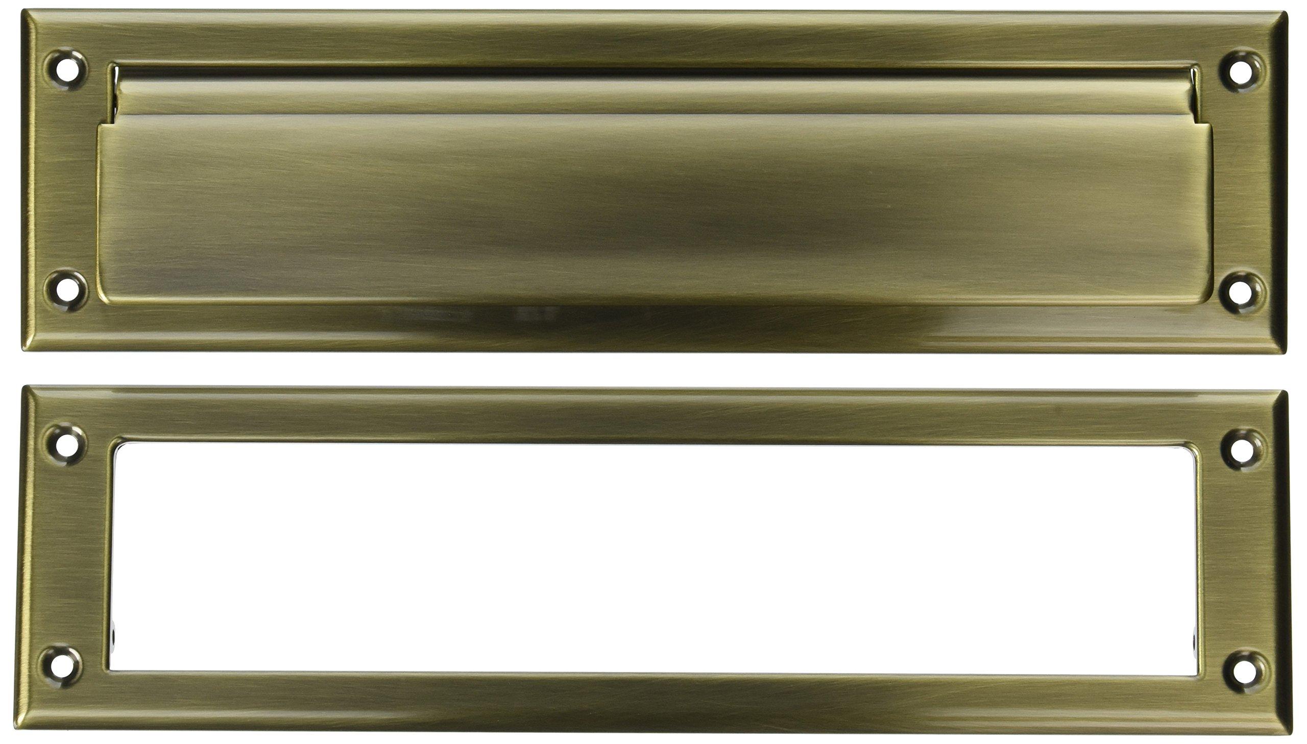 Baldwin 0012050 Letter Box Plate, Antique Brass