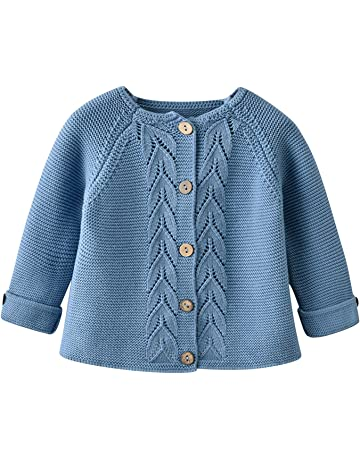 Kids Polo Cardigan Long Sleeves Smart Knitted Unisex Boys Girls Jersey Cardie