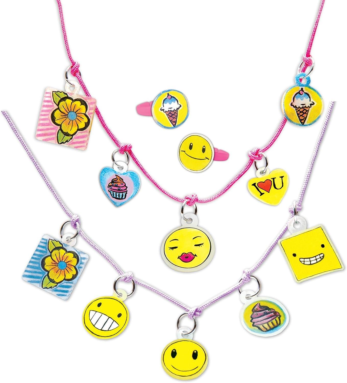 RoseArt Memoji Color N Shrink Jewelry Necklaces /& Rings