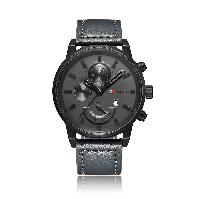 Amazon.com: Relogio Masculino Curren Quartz Mens Watches Top Brand Luxury Leather Waterproof Clock Male Wristwatches 2017 Fashion Men Watch: Watches