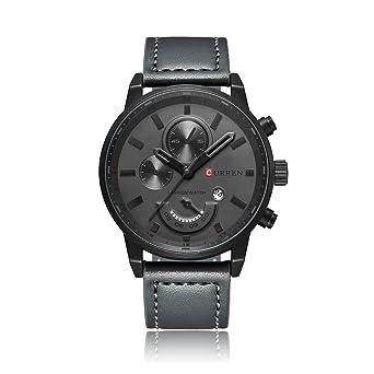 Relogio Masculino Curren Quartz Mens Watches Top Brand Luxury Leather Waterproof Clock Male Wristwatches 2017 Fashion