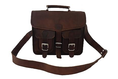 91172311ce85 Amazon.com | Vintage Leather Briefcase Messenger Bag 13 Inch MacBook ...