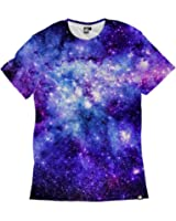 Into The AM Space Collection Men's All Over Galaxy Print Casual Tee Shirts