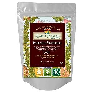 Potassium Bicarbonate USP Food Grade Crystalline Powder - Kosher Certified ( 8 Oz)