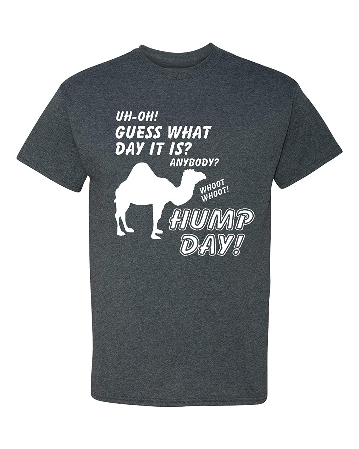 21d21326 Amazon.com: New Hump Day! Camel Adult Funny T-Shirt Tee: Clothing