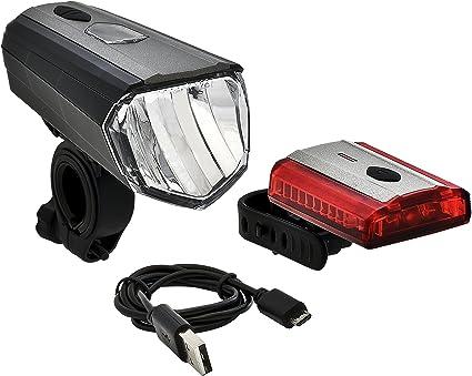 Büchel éclairage de vélo set StVZO 70 Lux LED phares flash usb batterie