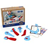 Green Toys Doctor's Kit Role Play Set, Red/Blue