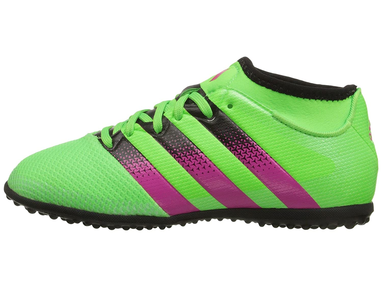 88fa974c701b Adidas Performance Ace 16.3 Primemesh TF JUNIOR (Solar Green Shock  Pink Core Black) (US size) (US size-Y 6Y)  Amazon.co.uk  Sports   Outdoors