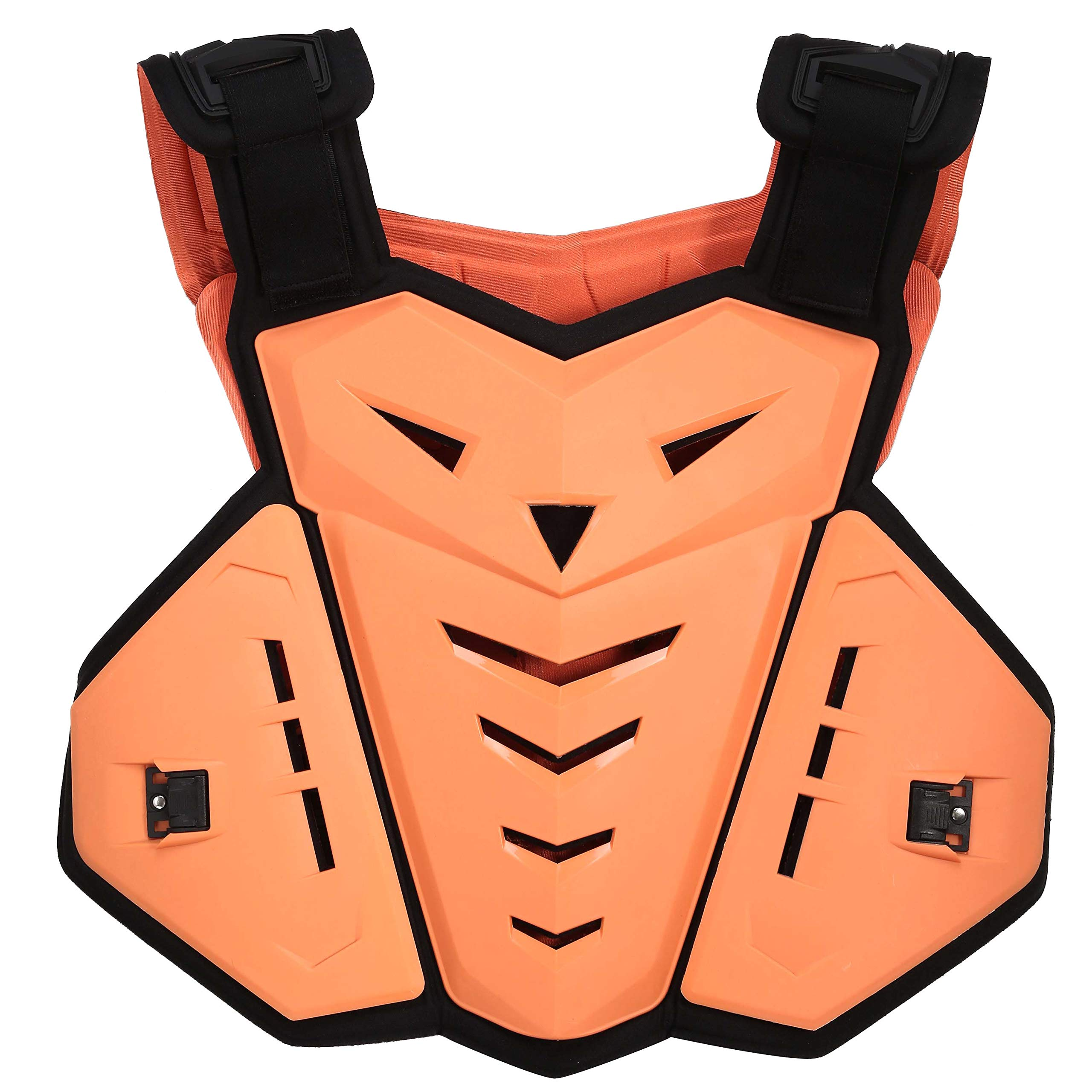 OHMOTOR Chest Back Protector Motorcycle Armor Vest Motorcycle Riding Chest Armor (Orange)