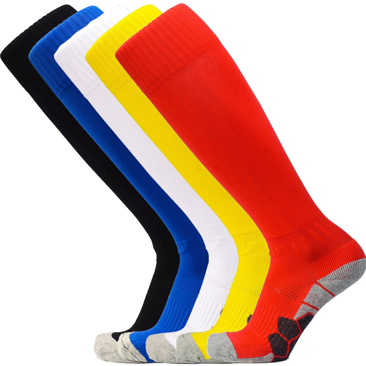 Kalakids SOCKSHOSIERY ボーイズ B07D8MKJW3New8102(red + Yellow + White + Blue + Black)