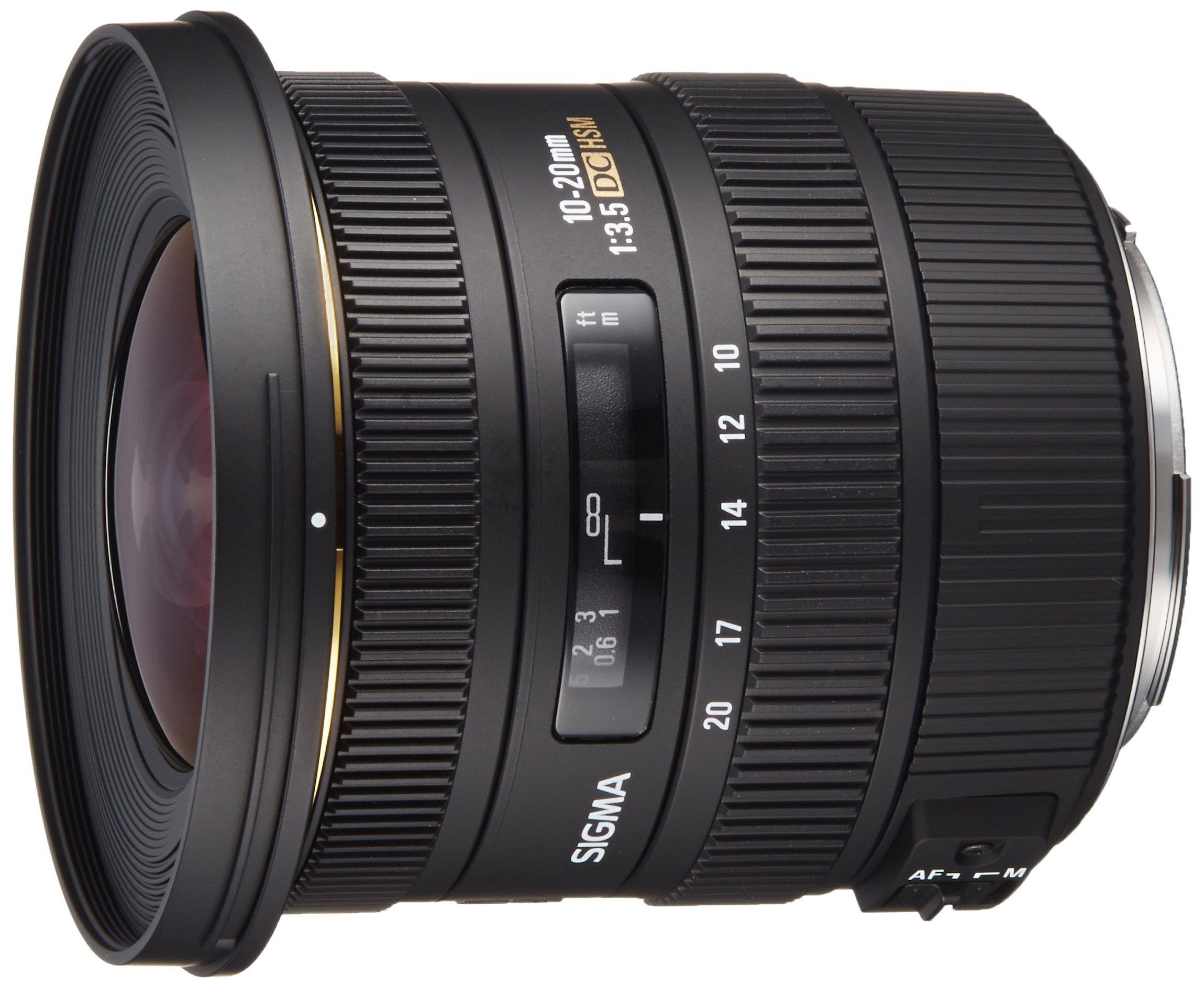 Sigma 10-20mm f/3.5 EX DC HSM ELD SLD Aspherical Super Wide Angle Lens for Canon Digital SLR Cameras by Sigma