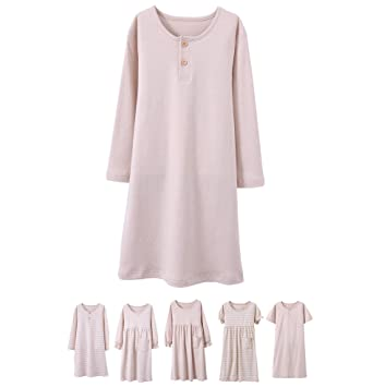 9367ab494edb Abalacoco Girls Kids Organic Cotton Nightgown Sleepwear Dress Soft Home  Dress Autumn Long Sleeve Soft Wear