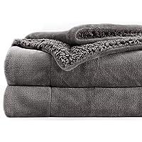 Topblan Sherpa Fleece Throw Blanket, Ultra Soft Reversible Plush Blanket, Throw Size for Sofa Nap Travel, Dual Sided…