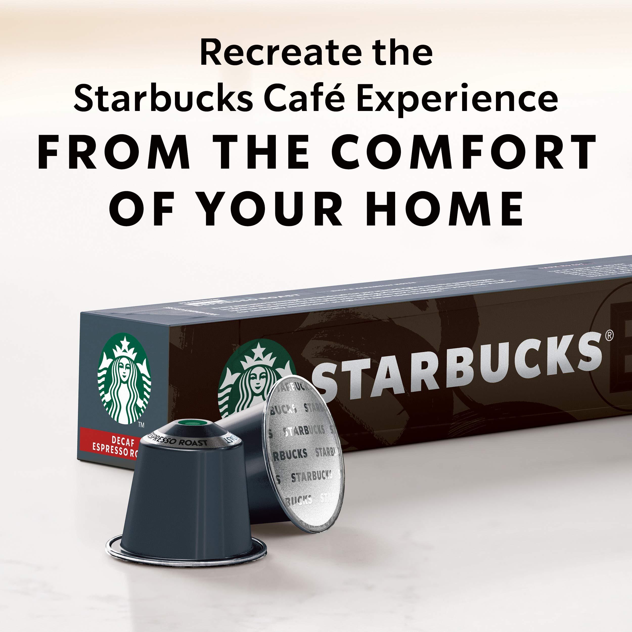 Starbucks by Nespresso, Decaf Espresso Dark Roast (50-count single serve capsules, compatible with Nespresso Original Line System) by Starbucks for Nespresso (Image #6)