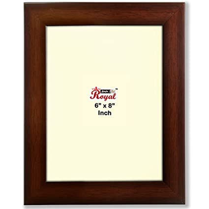 Buy Ajanta Royal Classic 6 x 8 Solo Photo Frame insert (Brown) : A ...