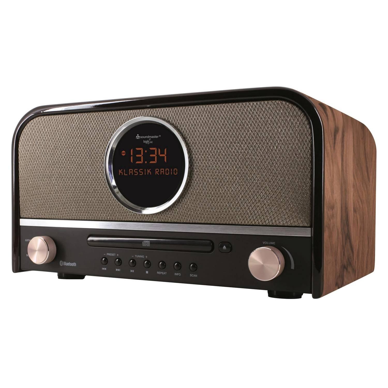 Soundmaster NR850 - Radio con CD/MP3, diseño retro