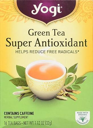Yogi Organic Super Antioxidant Green Tea, 16 ct: Amazon.es ...