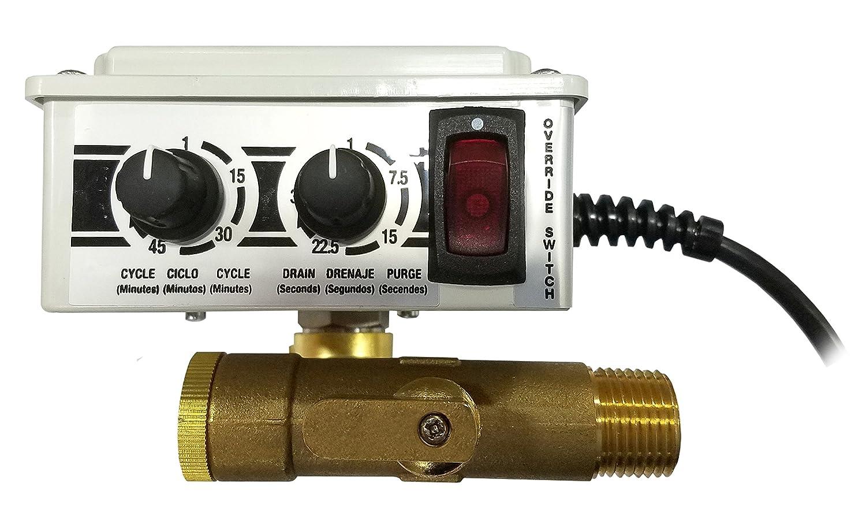 Arrow Pneumatics 5702S 5702S1/4' Electronic Tank Drain W/Y Strainer, 16 Scfm Max Flow, 200 Psig Max Pressure, 165 Degrees F Max Fluid Temperature