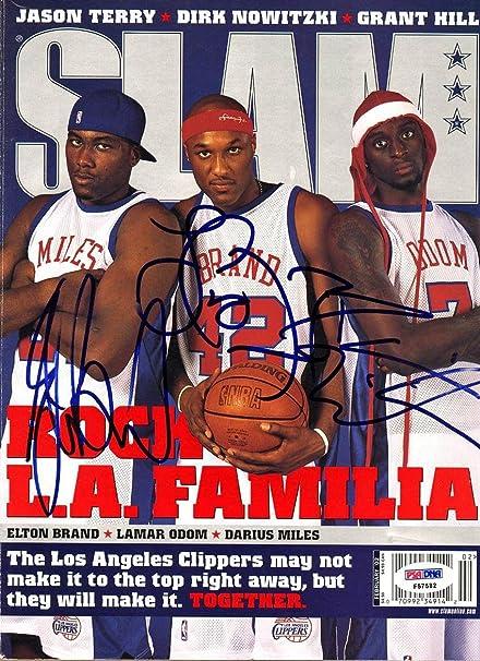 df47215d62b5 Lamar Odom Elton Brand Darius Miles SIGNED SLAM Magazine AUTOGRAPHED ...
