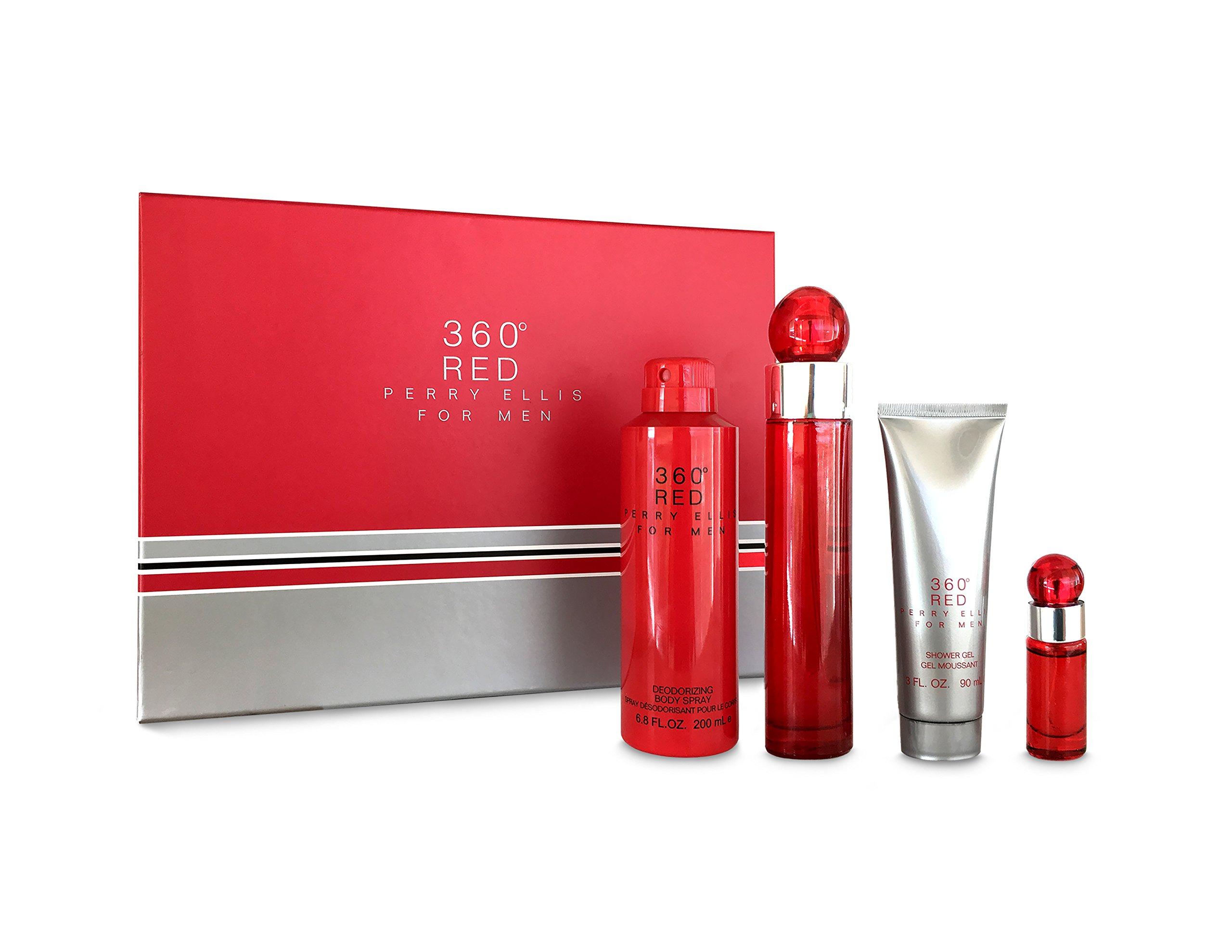 Perry Ellis Fragrances 360 Red 4 Piece Gift Set for Men