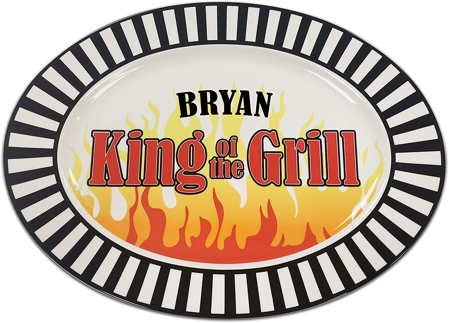 Amazon Com King Of The Grill Platter With Personalized Names Platters