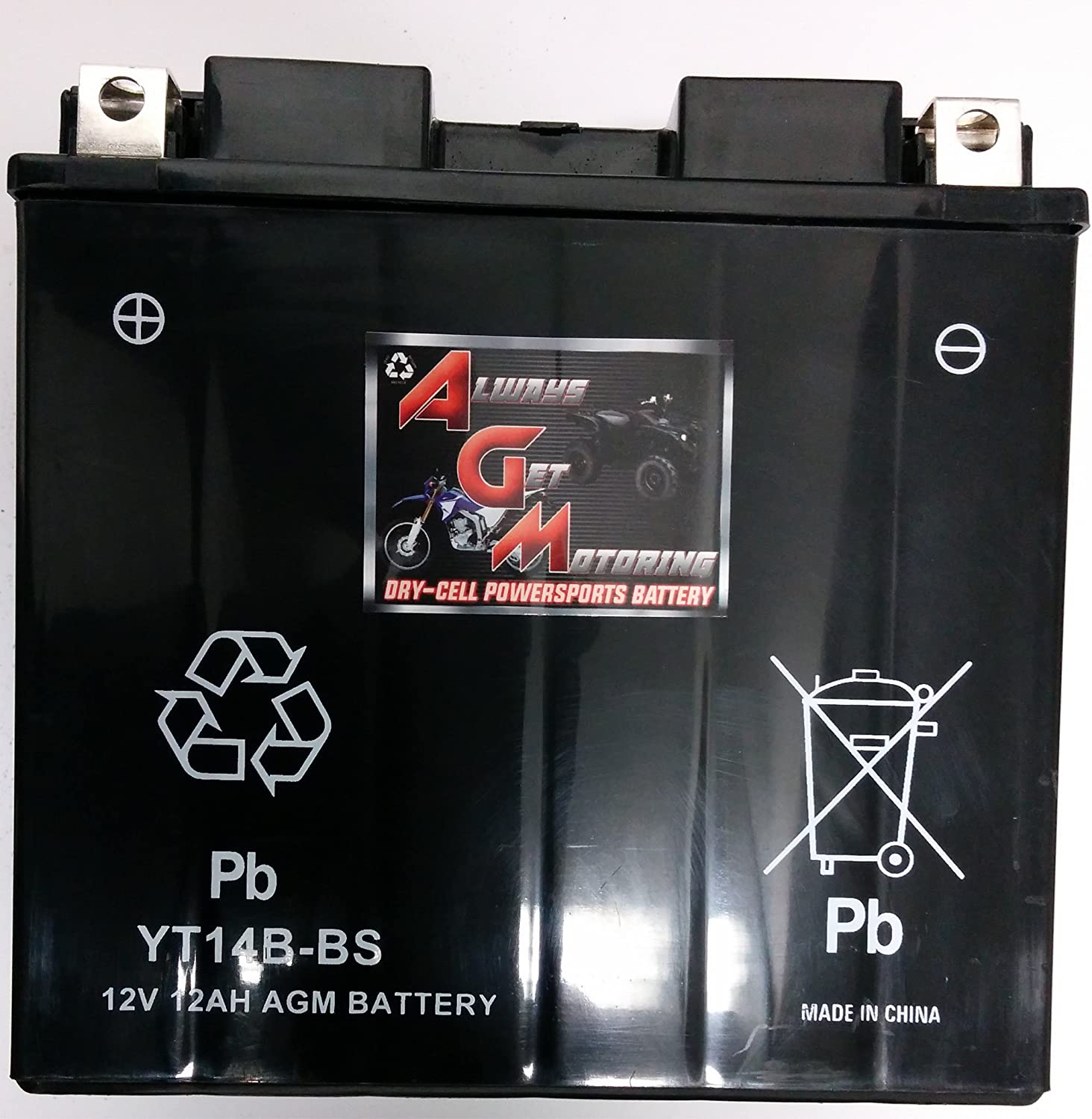 1999-2010 Sealed Maintenace Free 12V Battery High Performance SMF OEM Powersport Motorcycle ATV Snowmobile Watercraft AGM Brand Or Similar Replacement For KMG YT14B-BS Battery For Yamaha 1100 XVS1100 V-Star All By Saskbattery