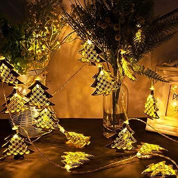 Christmas String Light, 20 LED Fairy Lights Battery Operated Metal Golden Christmas  Tree Shape Light - Amazon.com: Christmas String Light, 20 LED Fairy Lights Battery