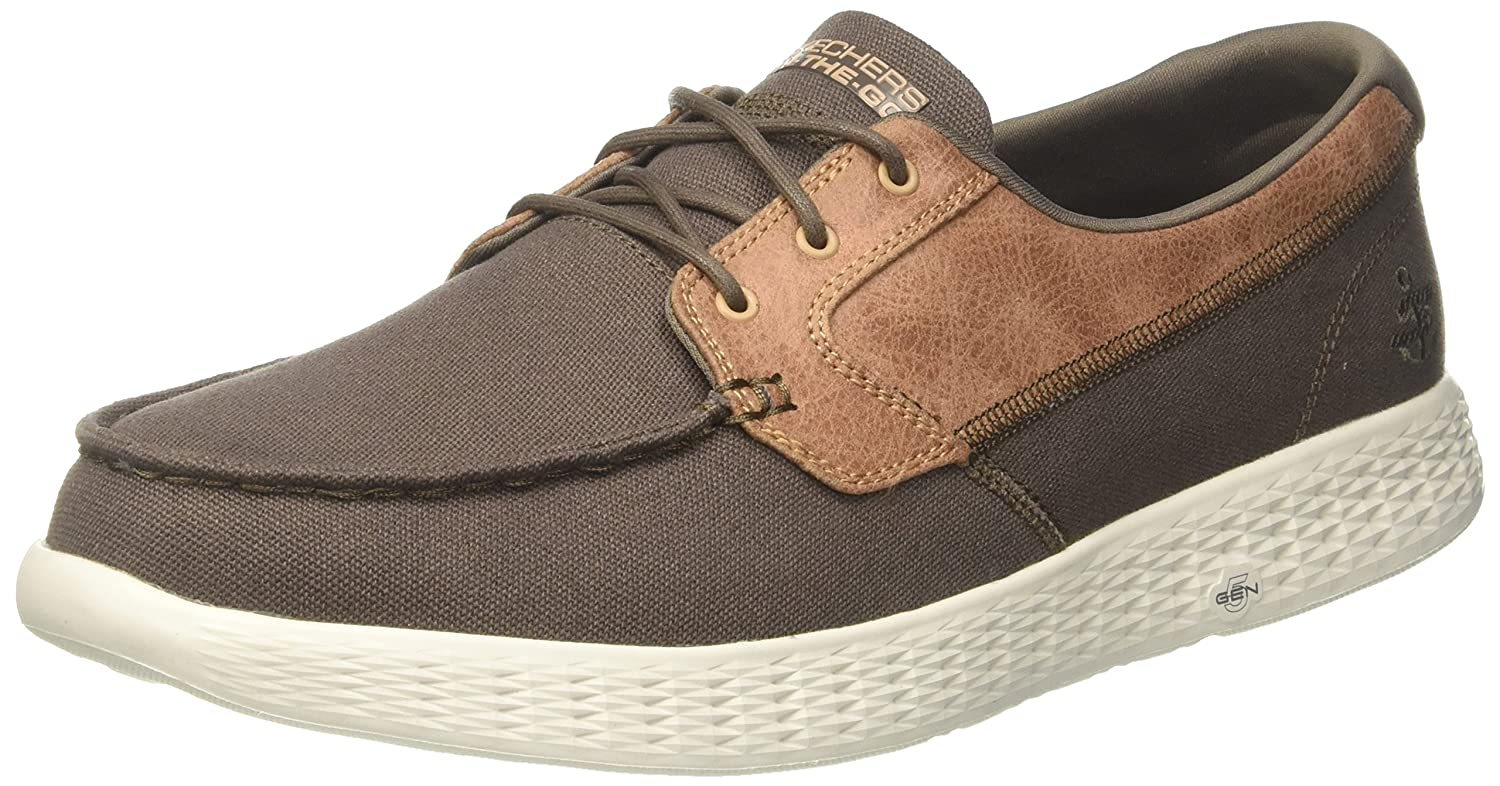 Skechers On-The-Go Glide-High Seas, Náuticos para Hombre 44 EU|Verde (Khaki)
