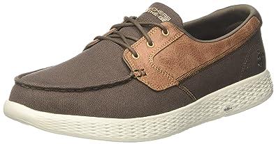 High Seas Khaki Mens Boat Shoes