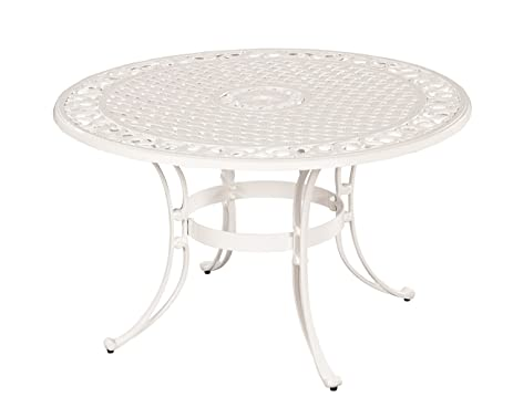 Home Styles 5552 32 Biscayne Round Outdoor Dining Table, White Finish, 48