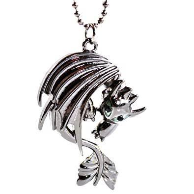 Beaux Bijoux How to Train Your Dragon Necklace - Toothless Night Fury Pendant o91D20