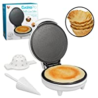 Waffle Cone and Bowl Maker- Homemade Ice Cream Wafflecones & Bowls in Minutes - with Roller and Bowl Press